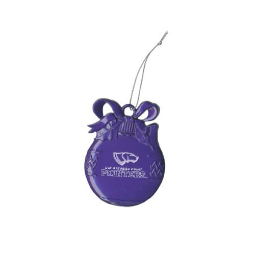 CollegeFanGear UW Stevens Point Purple Bulb Ornament 'Official Logo Engraved' by CollegeFanGear