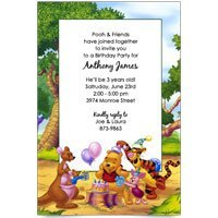 Amazon disney pooh piglet tigger kanga baby birthday disney pooh piglet tigger kanga baby birthday invitations set of 8 filmwisefo