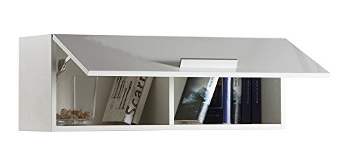 Pensile soggiorno apertura verticale colore laccato bianco: Amazon ...