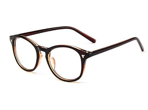 D.King Unisex Glasses Frames Optical Eyeglasses Clear Lens Fashion Glasses Dark - 5 King Sunglasses