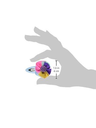 Wrapables Rainbow Ribbon Flower Hair Clips for for for Toddler Girl, Set of 5 63d57c