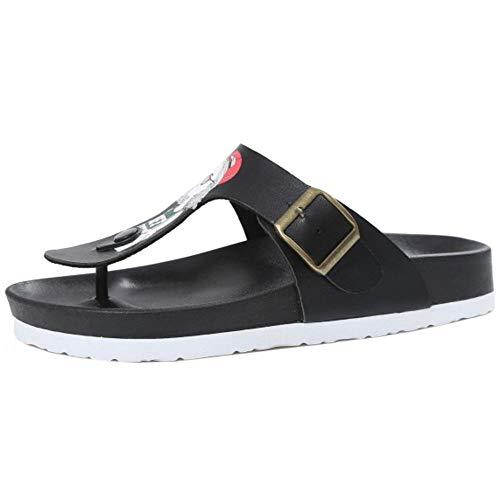35 Donna Rome Outdoor Spiaggia Sandals Suola Elastic Black Slides Casuale Dimensione Scarpe Sandali beauty Infradito Gomma Estive Zanpa Flat In fw41qBd1nH