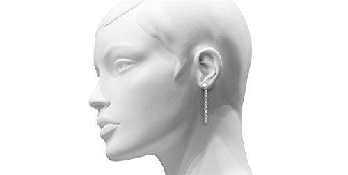 Canyon bijoux Boucles d'oreilles percées pendantes multi-chaînes en argent 925 passivé, 3g