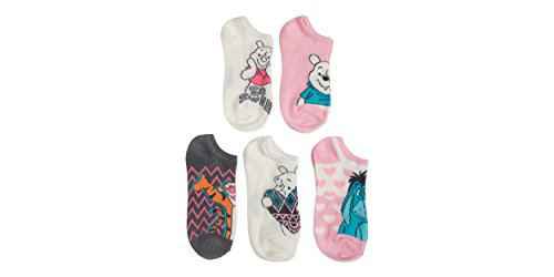 Winnie The Pooh Socks - Winnie The Pooh & Friends Ladies and Juniors 5 pk No Show Socks