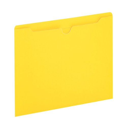 Globe-Weis/Pendaflex Colored File Jackets, Reinforced Tab, Flat, Letter Size, Yellow, 100 Jackets Per Box (B3010DTYEL)