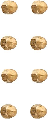 Uxcell a16032200ux1049 M4 Thread Dome Head Brass Cap Acorn Hex Nuts