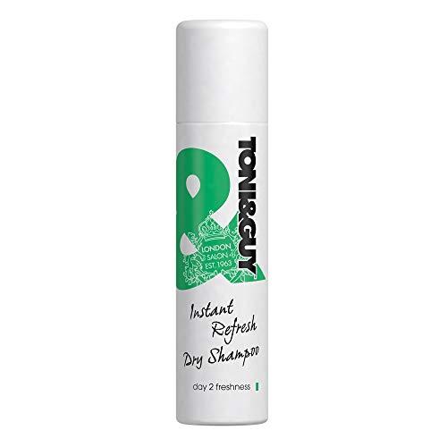 Toni&Guy Instant Refresh Dry Shampoo I Trocken-Shampoo für Damen I Sprühshampoo für jede Haarfarbe & jeden Haartyp I Reinigungs-Shampoo gegen fettige Haare I 100 ml