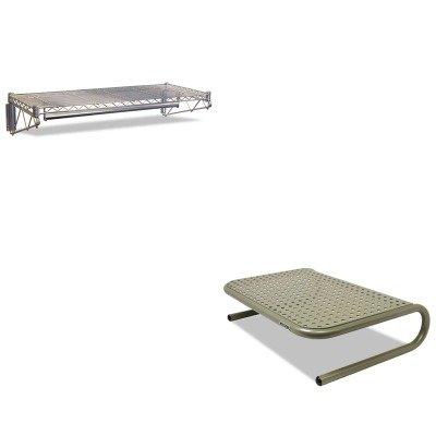 KITALEWS4818SRASP27021 - Value Kit - Best Steel Wire Wall Shelf Rack (ALEWS4818SR) and Allsop Metal Art Jr. Monitor Stand (ASP27021)