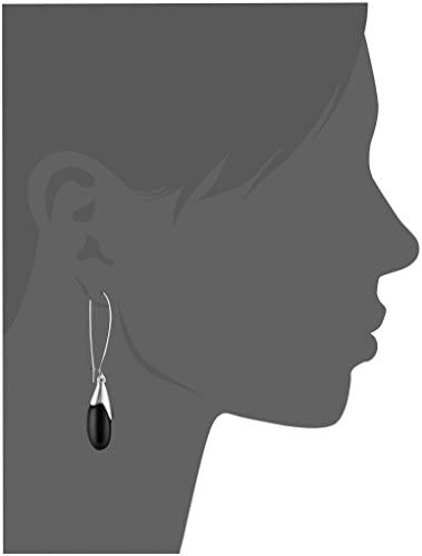 Robert Lee Morris Women's Black Bead Long Drop Earrings