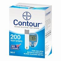 Bayer Contour Blood Glucose, 200 Test Strips