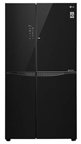LG 679 L Door in Door Inverter linear Side by Side Refrigerator  GC M247U GBM, Black Glass, LG ThinQ