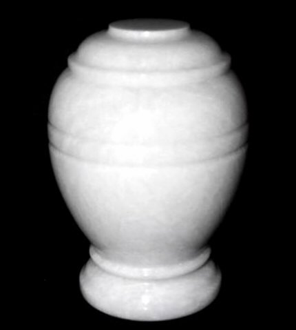 White Marble Pet Urn for Cat, Dog or Small Pets Ashes - Up to 20 Pounds ()