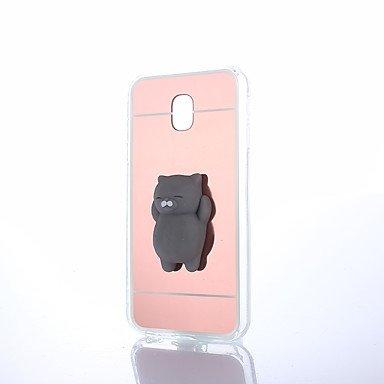 For Samsung Galaxy Squishy DIY Stress Relief Case Back Cover Case Cute 3D Cartoon Soft TPU Case for Samsung Galaxy J7 2016 J5 J3 J1 ( Color : Rose , Compatible Models : Galaxy Grand Prime ) (Samsung Galaxy Grand 3)