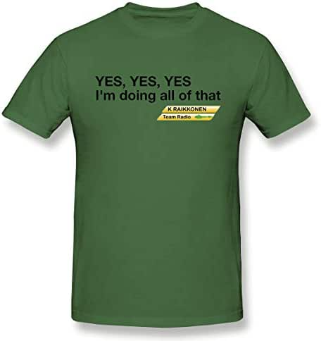 SUSANALI Men's Yes Yes Yes I'm Doing All of That T Shirts Moss Green with Short Sleeve Gift T Shirt