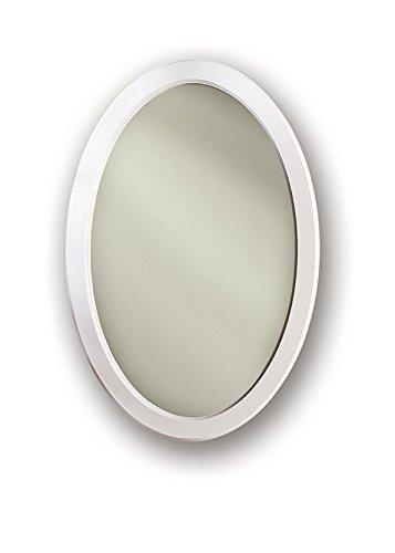 Jensen 1370WHX Gloss White Frame Oval Medicine Cabinet, 2...