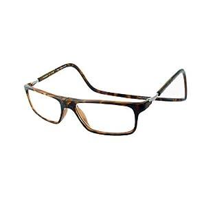 Clic Executive Single Vision Full Frame Designer Reading Glasses, Tortoise +2.00