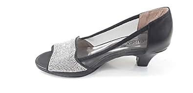 LEMEX Black Heel For Women