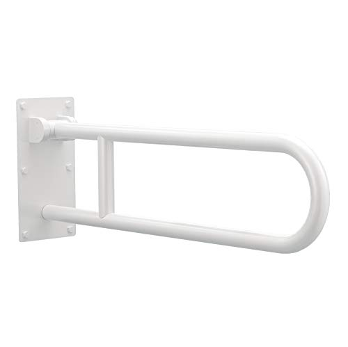 (Moen R8960FDW 30-Inch Flip-Up Bathroom Grab Bar, Glacier )