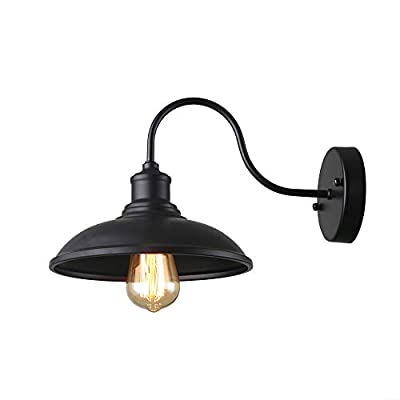 Giluta Industrial Wall Sconce Light of Rustic Vintage Wall Lighting Fixture with Metal Shade Indoor Antique Edison Wall lamp for Living Room Bedroom Bathroom Farmhouse