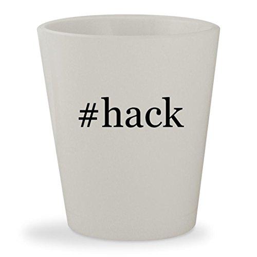 Price comparison product image #hack - White Hashtag Ceramic 1.5oz Shot Glass