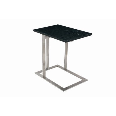 UPC 804324092129, Nuevo Dell Marble Top End Table in Black and Silver