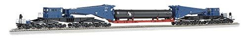 Bachmann Industries 380 Ton Schnabel Retort/Cylinder Load Ho Scale Freight Car, Blue/Black