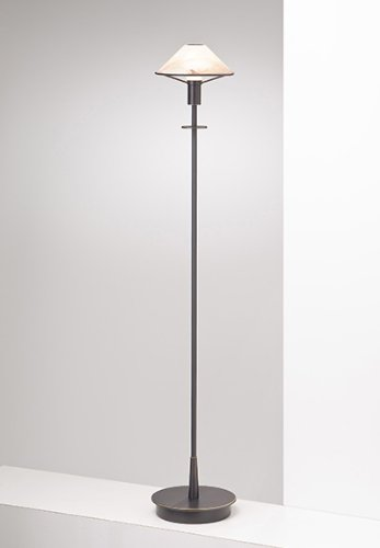 Holtkoetter 6515 HBOB ABR Lighting for The Aging Eye Halogen Floor Lamp, Hand-Brushed Old Bronze with Alabaster Brown Glass