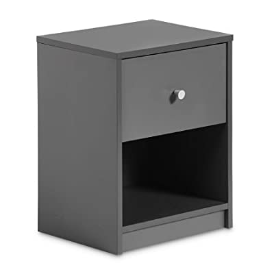 Studio 1 Drawer Nightstand | Modern Hardware With a Metallic Finish
