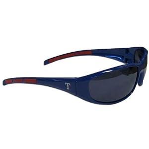 MLB Texas Rangers 3-Dot Wrap Sunglasses