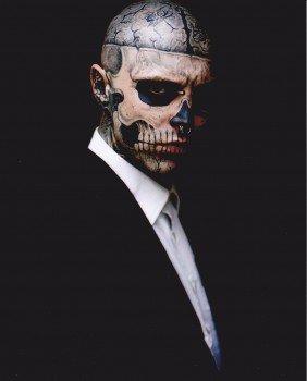 Rick Genest Modele Tattoo Tatouage Zombie Boy 10 X 8 20 X 25 Cm