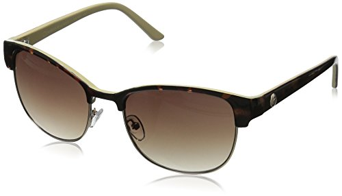 Oscar by Oscar De La Renta Women's Ssc4030 Square Sunglasses, Demi/Bone/Gold, 56 - Renta Sunglasses De Oscar