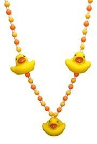 - Mardi Gras, Yellow Rubber Duck Beads, Necklace, 42