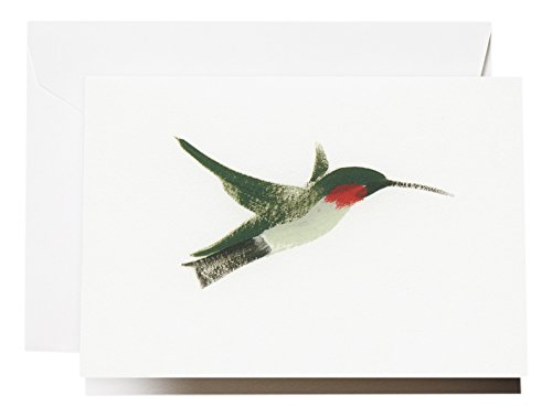 - Crane & Co. Brushstroke Hummingbird Note (CF1623)