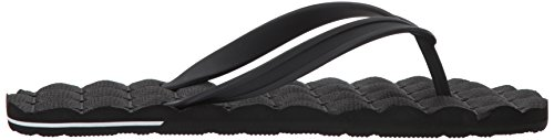 Volcom Mens Recliner Rubber 2 Flip Flop Sandal Black zLZVdKyGS4