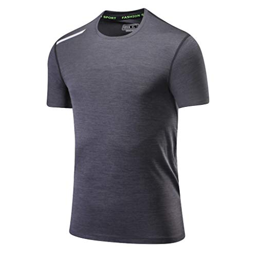 069cb3d29 Naladoo Men's Breathable Sport Quick Dry Short Sleeve T-Shirt Fitness Top  Blouse