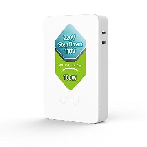 UMI 220V to 110V Step Down Smart Travel Transformer 100Watts Voltage Converter with 110V and 100V output (Isolation Transformer Step Down)