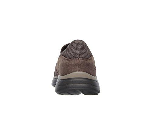 Skechers Usa Mens Scivola Movito Slip-on Loafer Chocolate