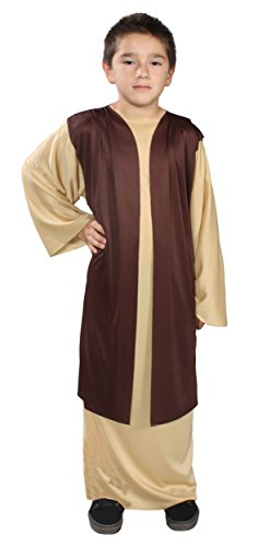 [Alexanders Costumes Story of Christ Biblical Over Robe Child Costume, Brown, Small] (Bible Costumes For Kids)
