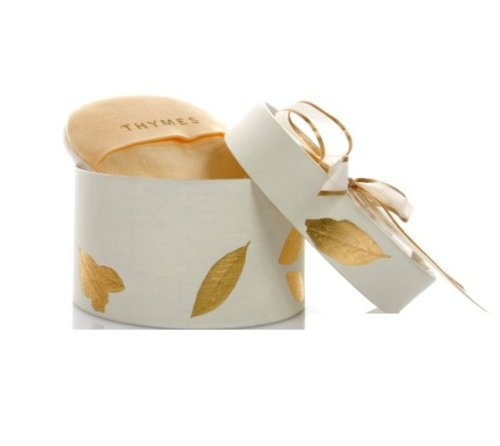 Thymes - Goldleaf Dusting Powder with Puff - Light Jasmine and Rose Scented Body Powder for Women - 3 oz ()