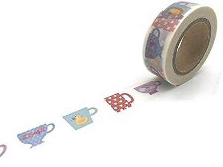 WRITIME 15mm x 10m Washi tape Vintage diy Weihnachten Wischiwaschi solide Wolken Herz gold schwarz Dekorative scrapbooking Tape, 1022 WRITIME@
