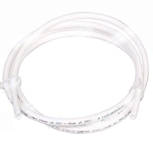 Aqualogis Tubo de agua blanco 1/4, (6.35mm) 10 m, para sistemas de ósmosis inversa, refrigeradores, máquinas de café…