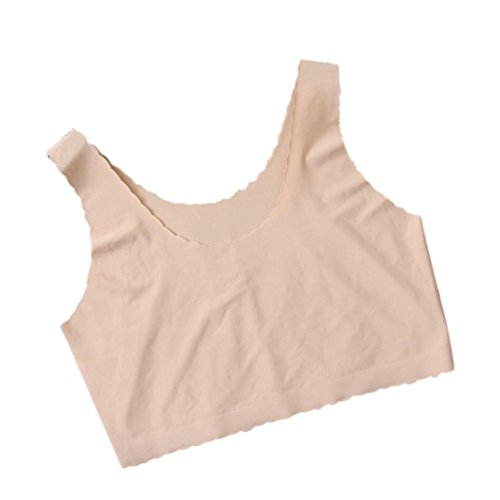 Patent Lace Up Bustier (Inkach Sexy Women Vest Crop Top Bralette Bustier Tank Tops (Khaki))