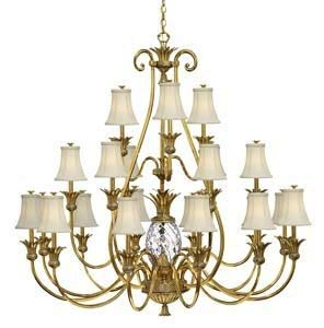 Hinkley 4889BB Traditional 22 Light Foyer from Plantation collection in Brassfinish,