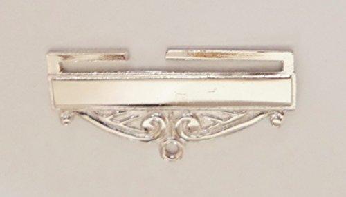 Masonic Freemasonry Nickel-Plated Jewel Ribbon Bottom Bar - W100