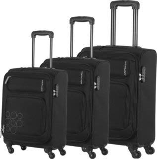 9fa7caec2ac7 American Tourister Polyester Set of 3 Black Luggage Set