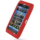PDair Luxury Silicone Case for Nokia N8 (Red)