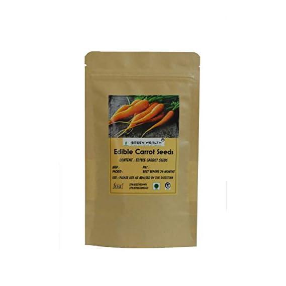 Green Wealth - Edible Carrot Seeds (Gajar K Beej) - 100 Grams