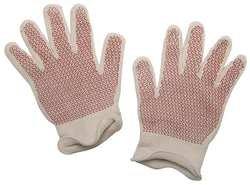 (Hot Mill Gloves, White/Rust, XL, PR)