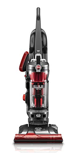 Hoover WindTunnel 3 High Performance Pet Bagless Corded Upright Vacuum UH72630PC, Red (Renewed)