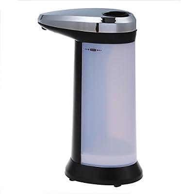 Ballylelly Dispensador autom/ático de jab/ón l/íquido Sensor inteligente Dispensador de desinfectante galvanizado de acero sin contacto Stianless para cocina
